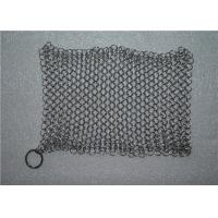 China Kitchen Cleaning Chainmail Scrubber For Cast Iron Cookware , Stainless Steel 316 wholesale
