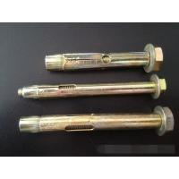 China Heavy Duty Sleeve Anchor Bolts Yellow Galvanized Painted ISO 9001 Approved wholesale