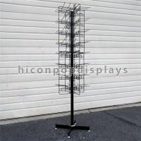 China 8 Tiered 96 Prongs 65 Long Rotating Display Rack Black Color With Hanging Hook wholesale