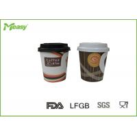 China 7oz Single Wall Hot Handled disposable thermal cups For Hot Beverage wholesale