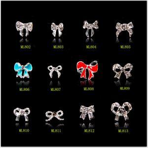 China Silver 3D Nail Art Decoration Alloy Jewelry Glitter Rhinestone ML802-813 on sale