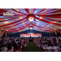 China Aluminum Frame PVC Roof Structure Marquee Tent Hal 50x50m with Ceiling Lining and Lighting wholesale