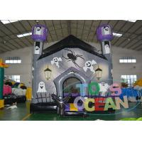 China 4.5 X 4.5m Halloween Haunted Moonwalk Inflatable Jumping Castle Promotion Event wholesale