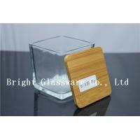 China square Candle Jar Lids, Wooden lid wholesale
