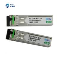 Buy cheap CE FCC approved 1000LX (LC) single-mode 1310Tx/1490Rx, 10 km 1.25g BiDi SFP Module from wholesalers