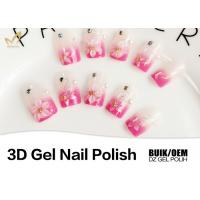 China Long Wearing Nail Art 3d Gel Paint , No Buble 3d Sculpting Gel Odorlessness wholesale