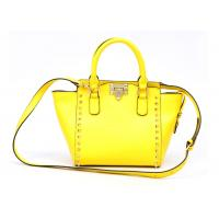 China Yellow Summer Womens Leather Bag with removable shoulder strap wholesale