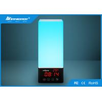China 8 Watt Colorful Bluetooth Lamp Speaker , Touch Control Wake Up Light Alarm Clock wholesale