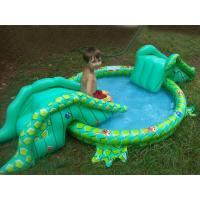 China swimming pool with water slide,inflatable water pool wholesale