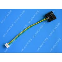 Buy cheap Molex Black Large 4Pin To Small 4Pin Green Yellow Power Transfer Wire Harness from wholesalers