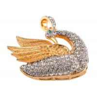 China  Micro Swan Shaped Luxury USB Jewelry Flash Drive Customized  for sale