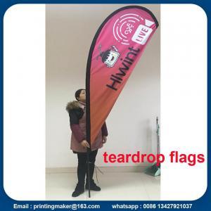China Custom Teardrop Flag Banner Printing on sale