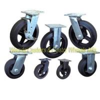 China Moldon Rubber Caster Wheels with Cast Iron Centers wholesale