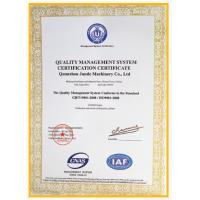 QUANZHOU JUNDE MACHINERY CO.,LTD Certifications