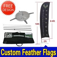 Quality Windchaser Feather Flags Banner with fiberglass pole , cross base and carry bag for sale