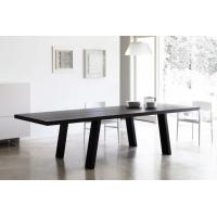 China Solid Wooden Minimo Modern Dining Room Tables Rectangle Black Colors wholesale