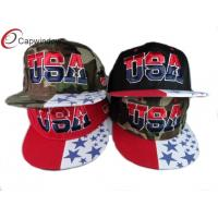 China Camouflage Snapback Baseball Caps Summer Mesh With 3D Embroidered wholesale