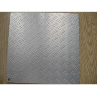 China Two Bar 6063 Alloy Aluminium Chequer Plate Sheet For Freezer Decoration wholesale