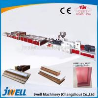 China Jwell PVC plastic cross door plate extrusion line wholesale