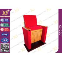 China Two Pieces Type Back Rest Theater Seating Chairs With Full Upholstered Cover Leg wholesale