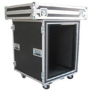 China Aluminum Flight Case With Wheels / Handles Plastic 4U Rack Case wholesale
