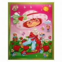 China 3-D Sticker with 5 Colors Changing Effect, Made of Recycled PP, Non-toxic wholesale
