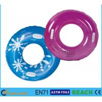 China PVC Vinyl 30 Inch Inflatable Swim Ring Recreation Lively Printed UV Protection on sale