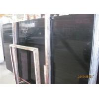 Black Wood Marble Wall Slab , 20mm Marble Stone Tile Vein Cut / Cross Cut