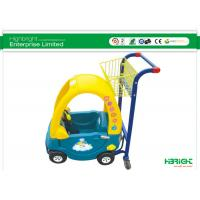 China Supermarket Kids Shopping Trolley Plastic With Caster And Small Basket wholesale