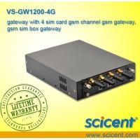 Buy cheap gateway with 4 sim card gsm channel gsm gateway, gsm sim box gateway from wholesalers