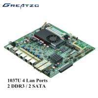 China 2 DDR3 / 2 SATA Industrial Quad LAN Motherboard Support BYPASS / 2 SFP wholesale
