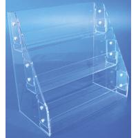China HIPS, Acrylic tiered Display Shelves / Shelving for leaflets, brochure, instruction books wholesale