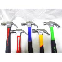 China Construction Site Brick Hand Tools Hammer , Claw Hammer With Fiberglass Handle wholesale