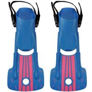 China Kids Scuba Diving Fins Short Adjustable With Snorkeling Open Heel wholesale