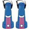 Buy cheap Kids Scuba Diving Fins Short Adjustable With Snorkeling Open Heel from wholesalers
