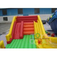 China 0.55mm PVC Rainbow Commercial Inflatable Slides With Three Lanes Digital Printing wholesale