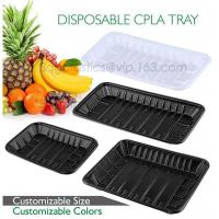 China PLA plate best selling prodcts, biodegradable PLA dinner plate for restaurant use, pla food box for meat wholesale