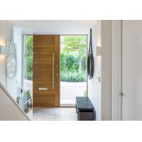 China Double Swing Outdoor Solid Wood Door With Tempered Clear Glass Inserts on sale