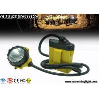 China Black Small Size Led Cable Manual Mining Cap Lights 25000 Lux Brightness wholesale