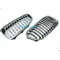 China Fiber Style Radiator Mesh Grille Mould With Chrom , Grille Molding For BMW E60 wholesale