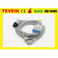 Wholesale 5 leads snap ECG cable with clip for Nellcor patient monitor,AHA from china suppliers