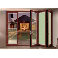 Double Glazed Aluminium Folding Doors Soundproof Energy Saving With Built In Blinds
