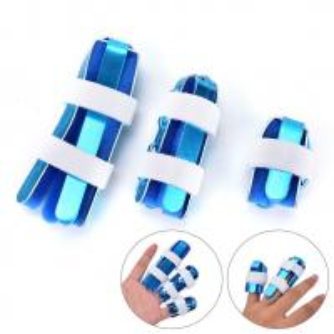 China Aluminum hand brace splint S M L size with soft foam finger support manufacturer wholesale
