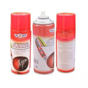 China Oem Logo ISO9001 Tinplate 400ml Aerosol Carburetor Cleaner wholesale
