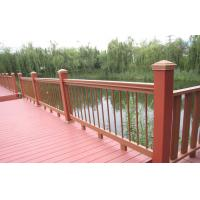 China Red Outdoor Engineered WPC Deck Waterproof Railing / Corridor wholesale