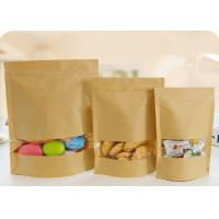 China Flat Bottom Plastic Storage Bags With Zippers White Kraft Paper Food Grade wholesale