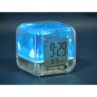 China Novel and Multifunction LCD Clock with light and Colourful Oil inside--EN6095 wholesale