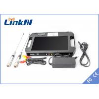 China Digital Portable Video Receiver / COFDM Receiver With 10.1 Inch LCD Screen wholesale