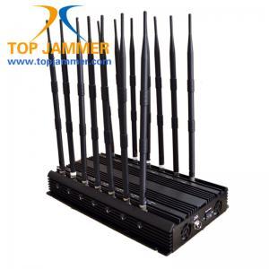 14 Antennas 35w Mobile Signal Jammer Blocker GSM DCS 3G 4G Wimax Wifi GPS Camera UHF VHF