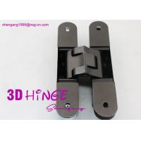 China Concealed Invisible Door Hinges Satin Nickel Finish For Heavy Internal Doors wholesale
